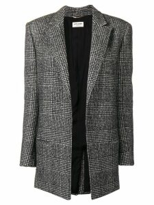 Saint Laurent plaid fitted blazer - Black