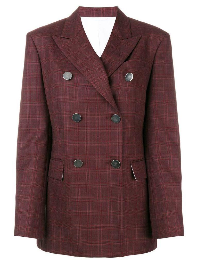 Calvin Klein 205W39nyc tartan double-breasted blazer - Red