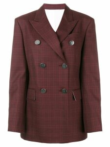 Calvin Klein 205W39nyc tartan double-breasted blazer - Red