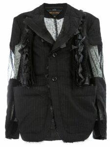 Comme Des Garçons cut out ripped blazer - Black