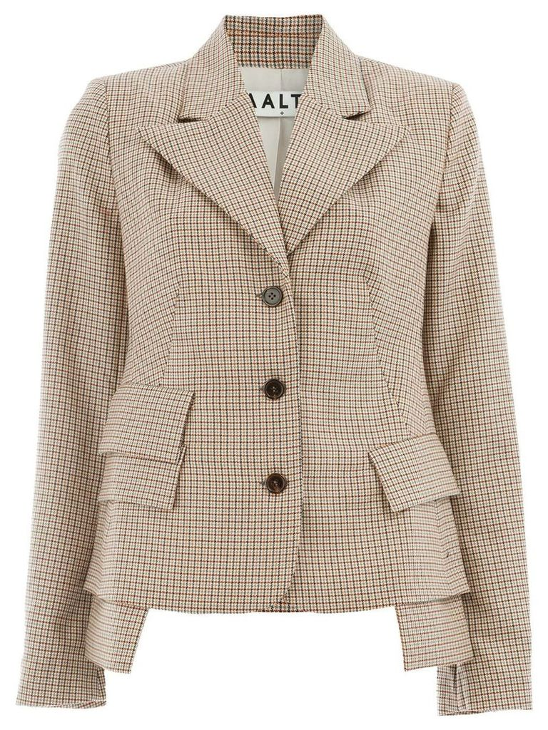 Aalto check blazer - Brown