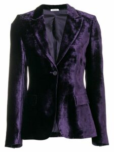 P.A.R.O.S.H. velvet fitted jacket - Purple