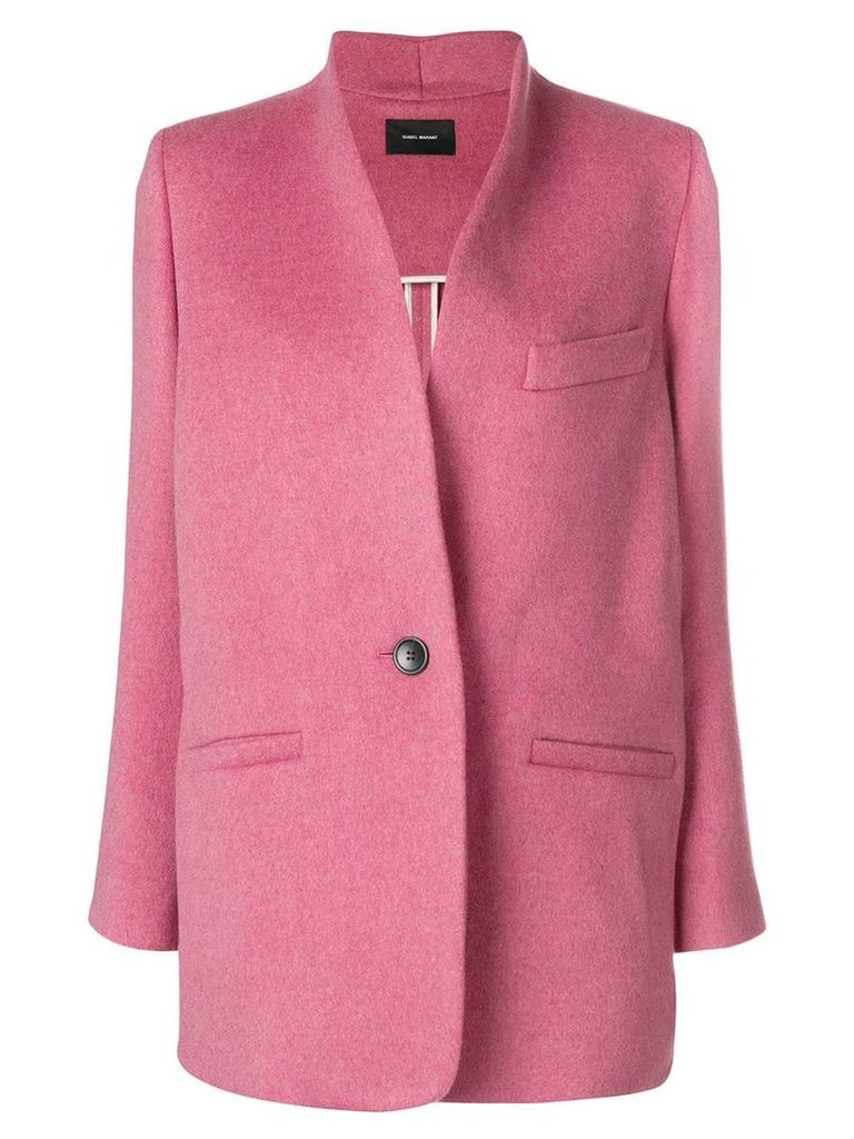 Isabel Marant one-button blazer - Pink