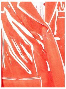Rohka boxy printed blazer - Red