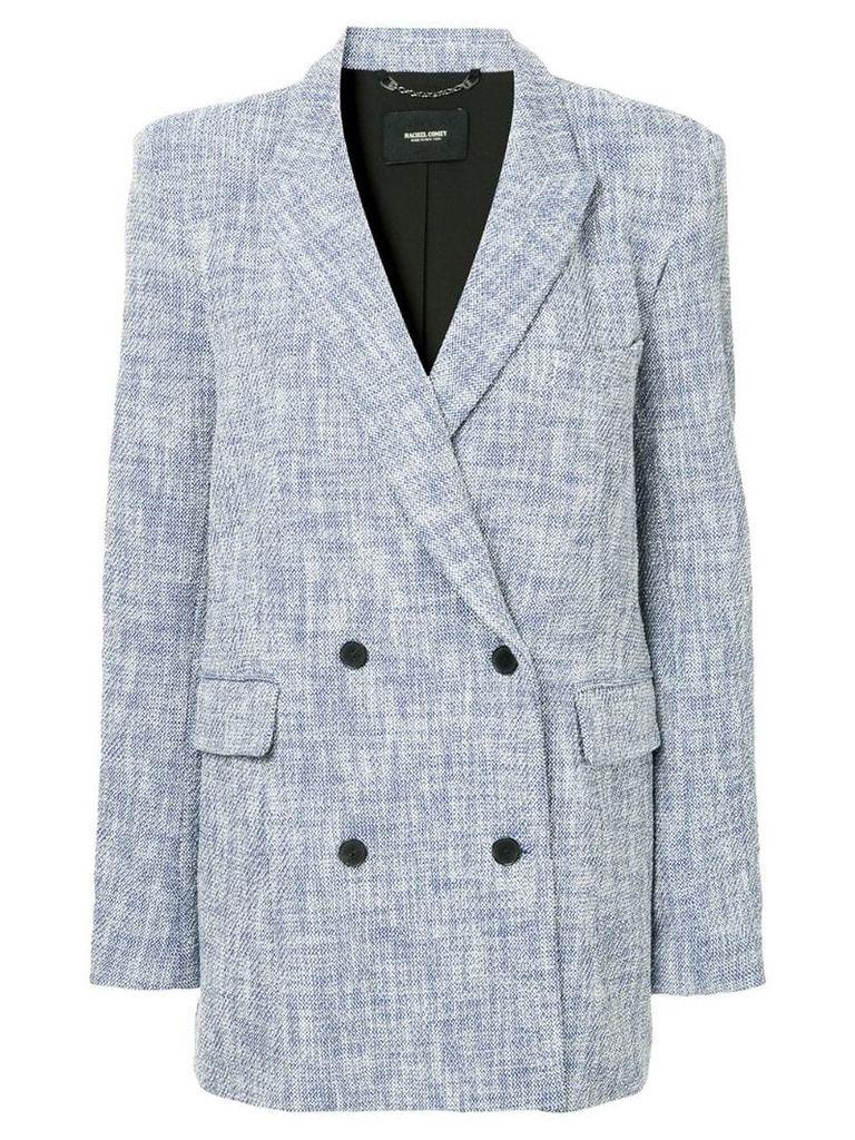 Rachel Comey woven double breasted blazer - Blue