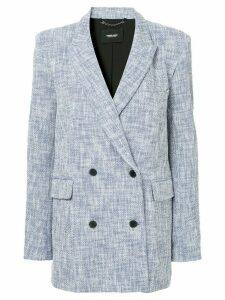 Rachel Comey woven double breasted blazer - Blue
