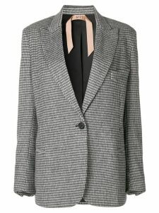 Nº21 checked structured blazer - Grey