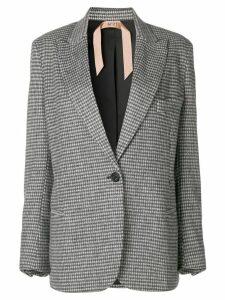 Nº21 checked structured blazer - Grey