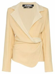 Jacquemus wrap blazer jacket - Yellow