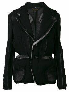 Comme Des Garçons raw edge jacket - Black