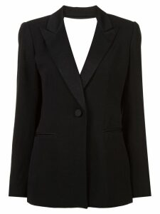Diane von Furstenberg cut out tuxedo blazer - Black