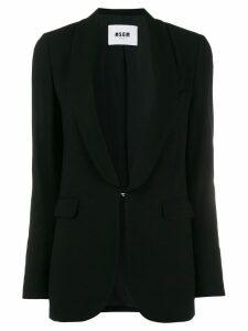 MSGM shawl lapel blazer - Black