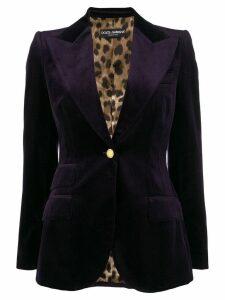 Dolce & Gabbana peaked lapel blazer - Purple