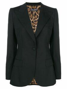Dolce & Gabbana fitted longline blazer - Black
