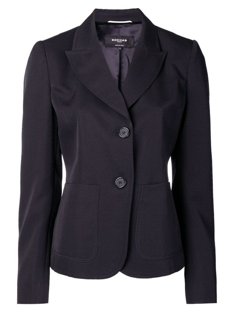 Rochas double button fitted blazer - Blue