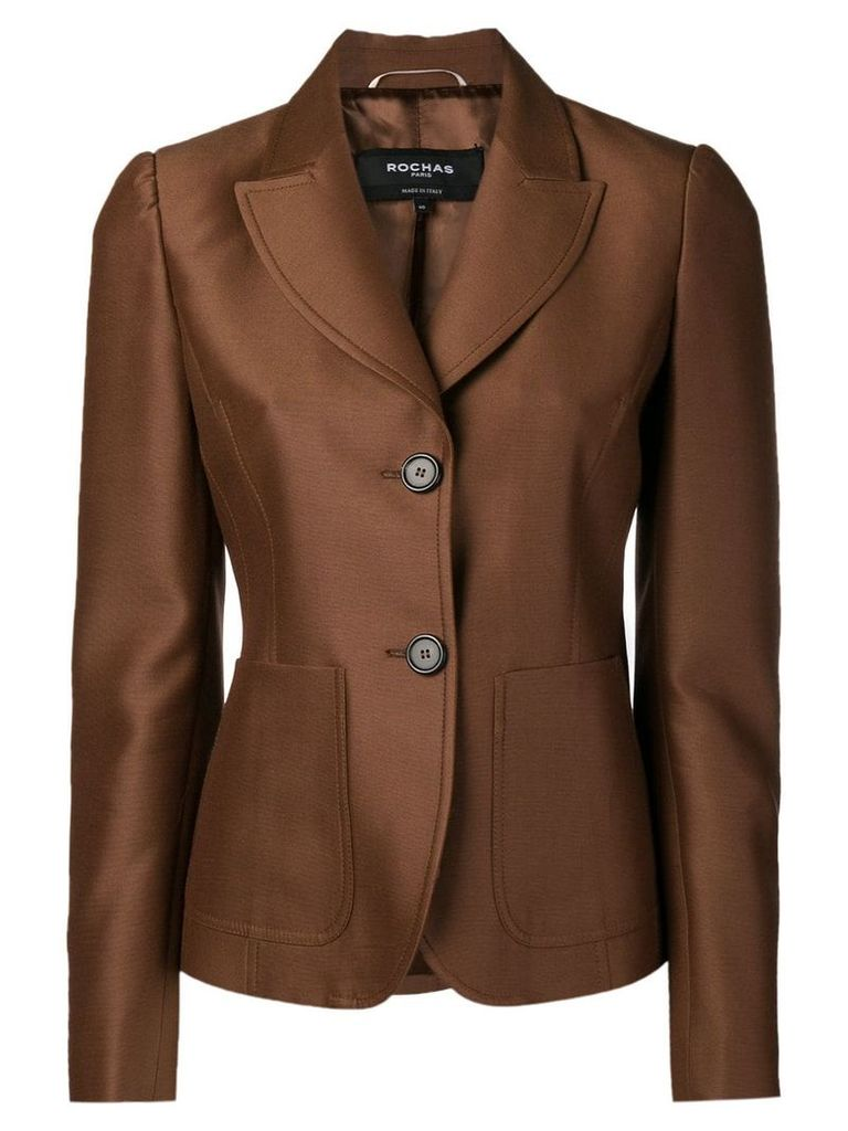 Rochas double button fitted blazer - Brown