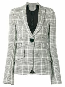 Petar Petrov checked fitted blazer - Black