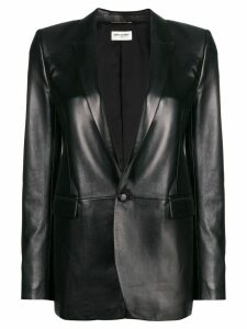Saint Laurent leather blazer - Black