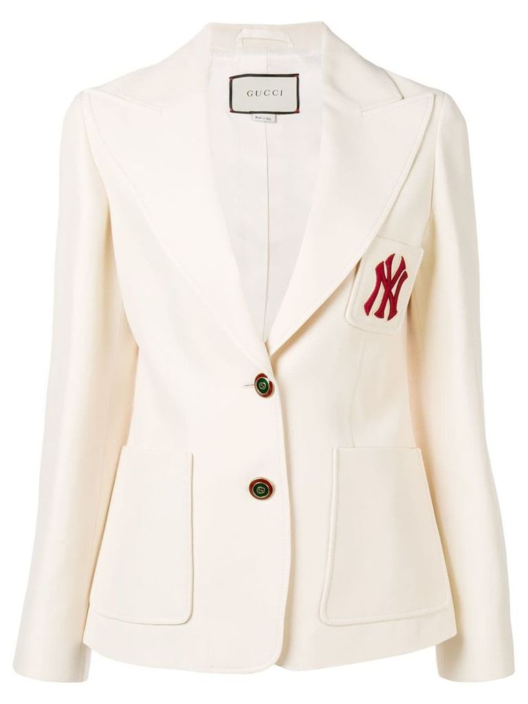 Gucci NY Yankees™ patch blazer - White