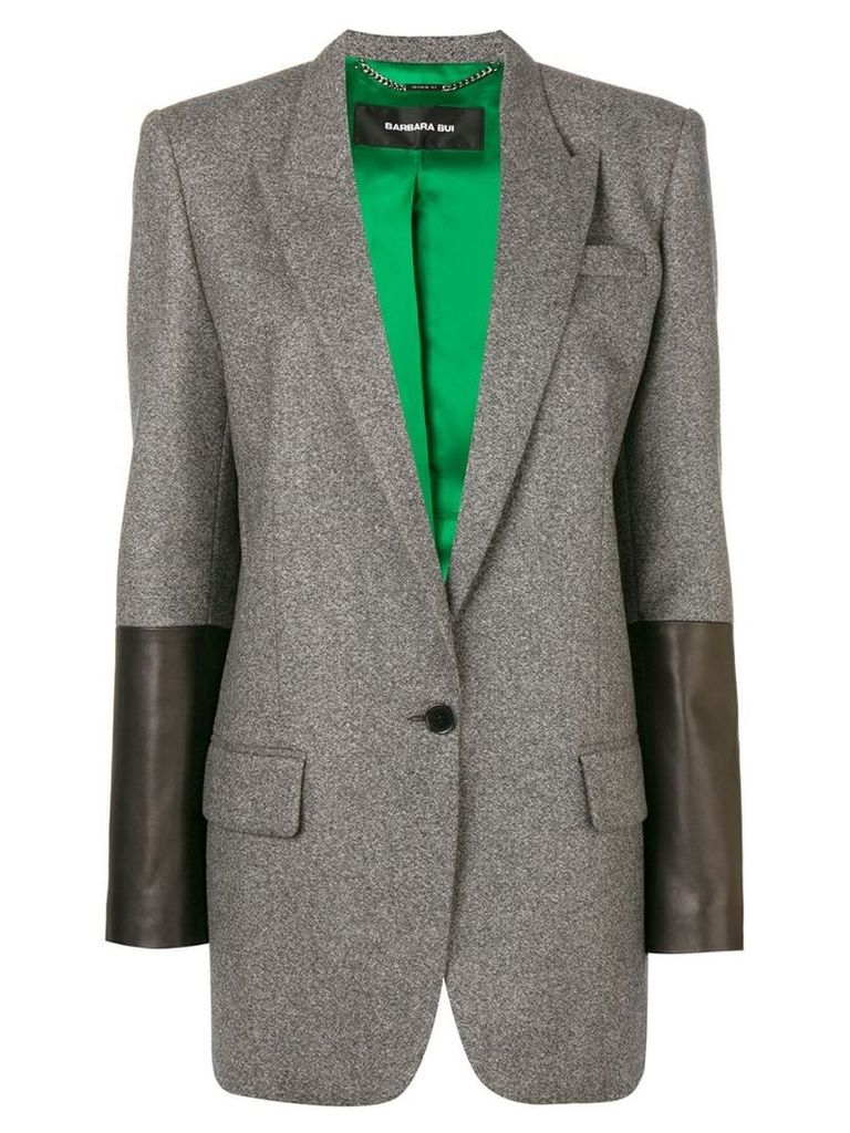 Barbara Bui contrast sleeve blazer - Grey