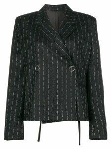 1017 ALYX 9SM logo stripe double breasted jacket - Black