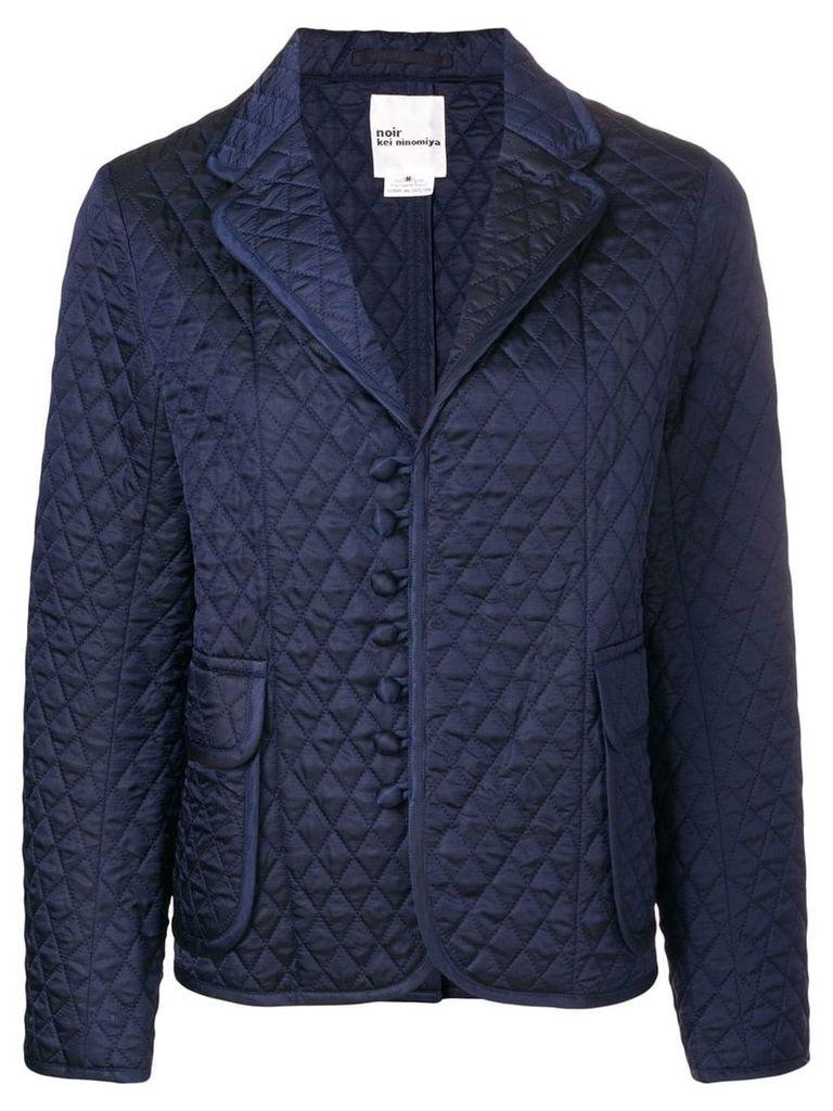 Comme Des Garçons Noir Kei Ninomiya quilted blazer - Blue