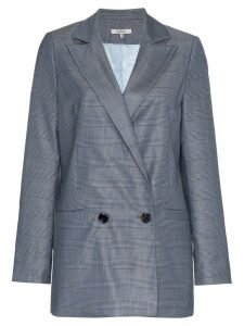 Ganni Merkel Double-Breasted Blazer - Blue