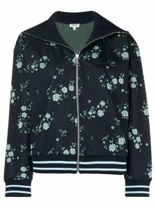 Kenzo floral spread collar bomber jacket - Blue
