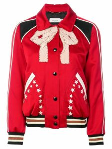 Coach classic collar bomber jacket - Red