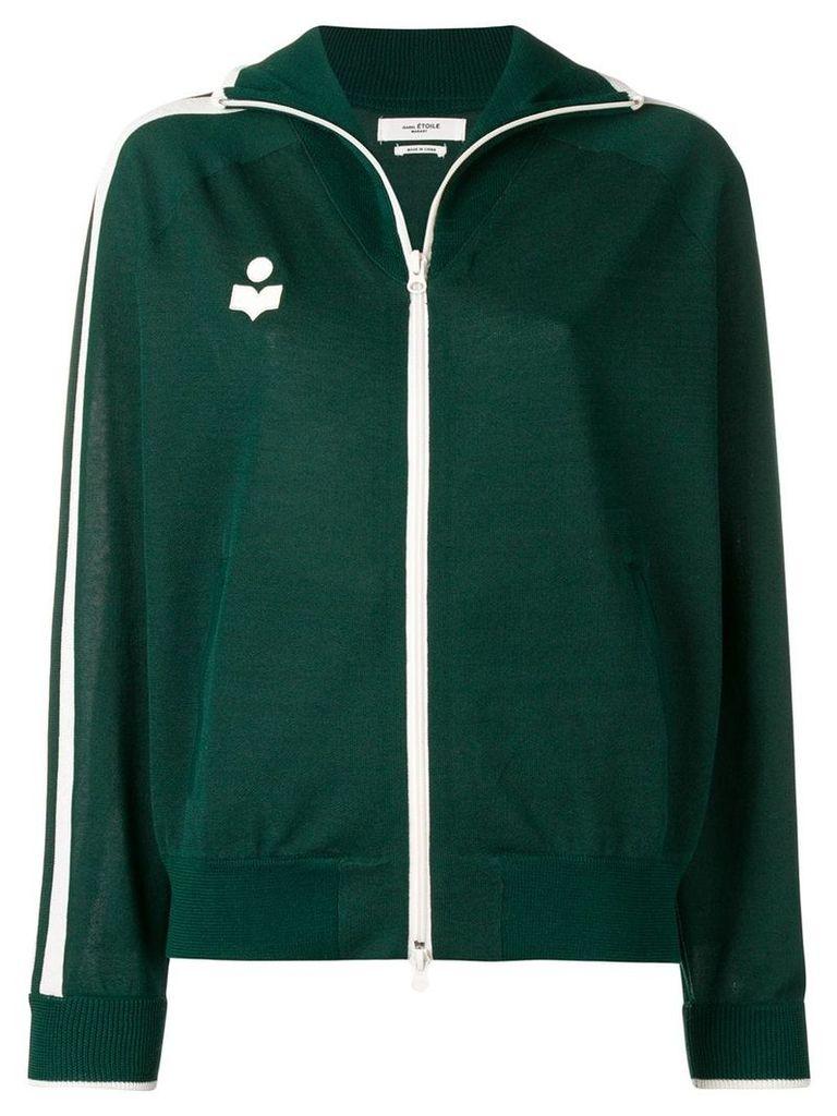 Isabel Marant Étoile side stripe track jacket - Green