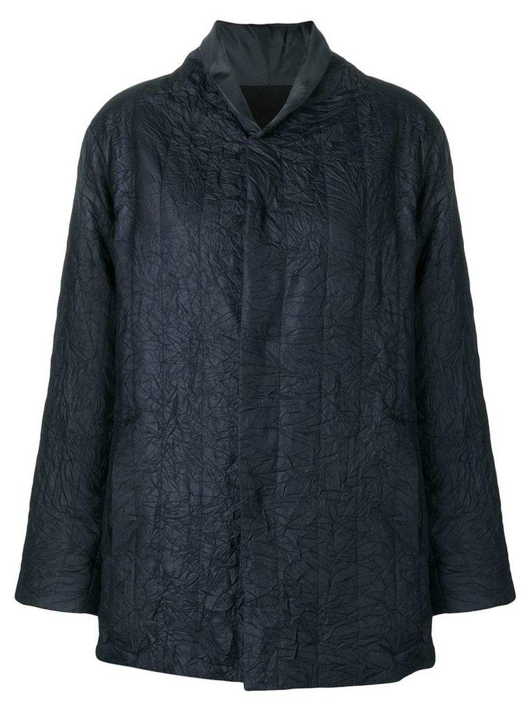 Plantation crinkled loose bomber jacket - Blue
