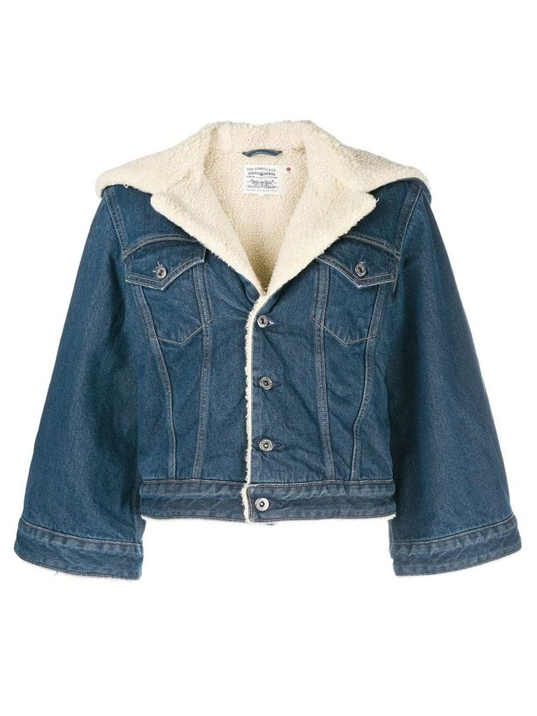Levi's: Made & Crafted cropped denim jacket - Blue