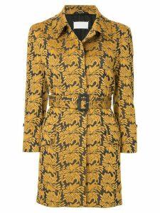 Maison Margiela belted jacquard jacket - Blue
