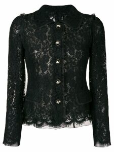 Dolce & Gabbana lace embroidered fitted jacket - Black