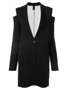 Vera Wang cold shoulder knit coat - Black