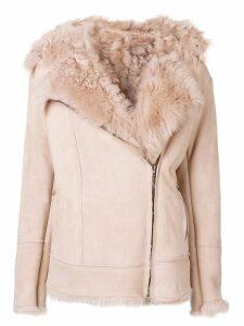 Salvatore Santoro shearling jacket - Neutrals