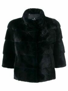 Cara Mila cropped sleeves jacket - Blue