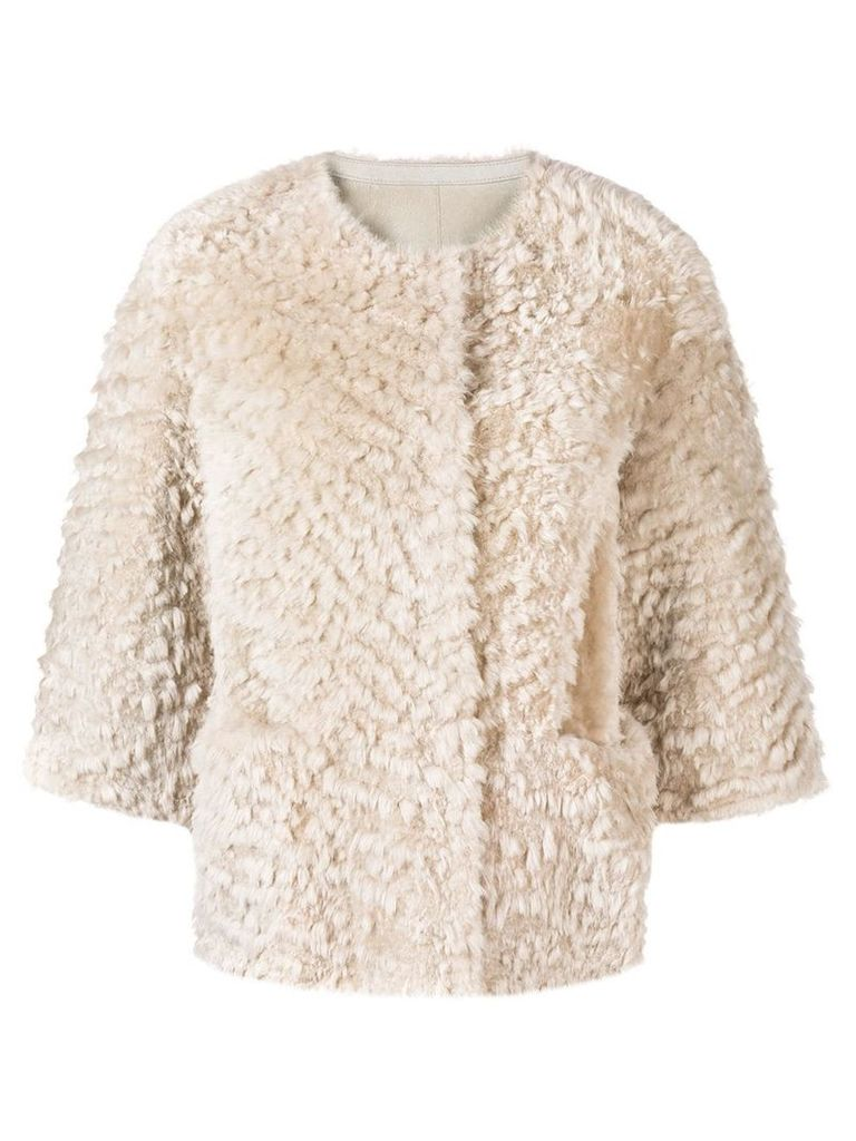 Desa 1972 shearling jacket - Neutrals