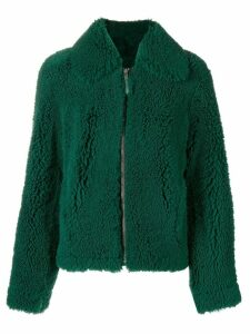 Cédric Charlier shearling coat - Green