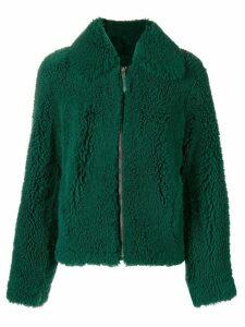 Cédric Charlier shearling coat - Green