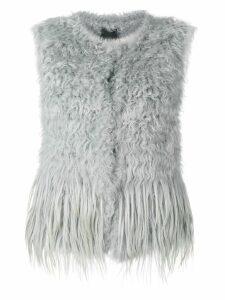 Drome short fur vest - Grey