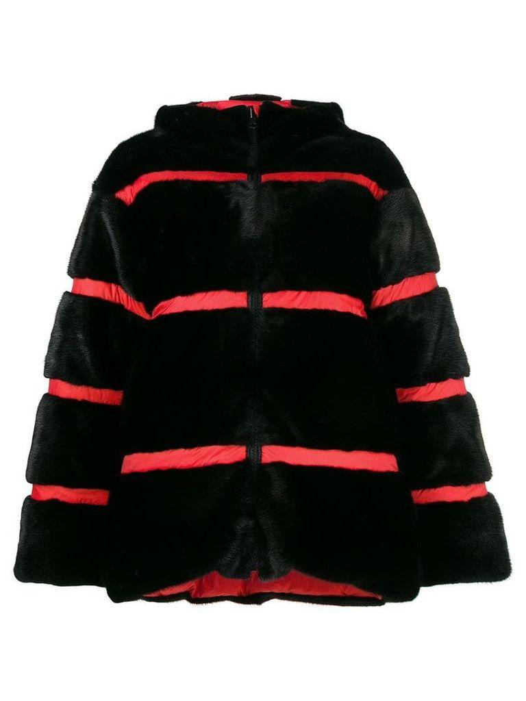 Fabio Gavazzi panelled puffer jacket - Black