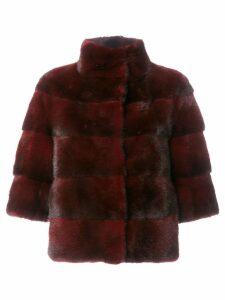 Cara Mila Midi mink jacket - Pink