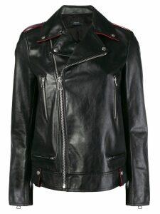 Joseph off-centre zipped jacket - Black