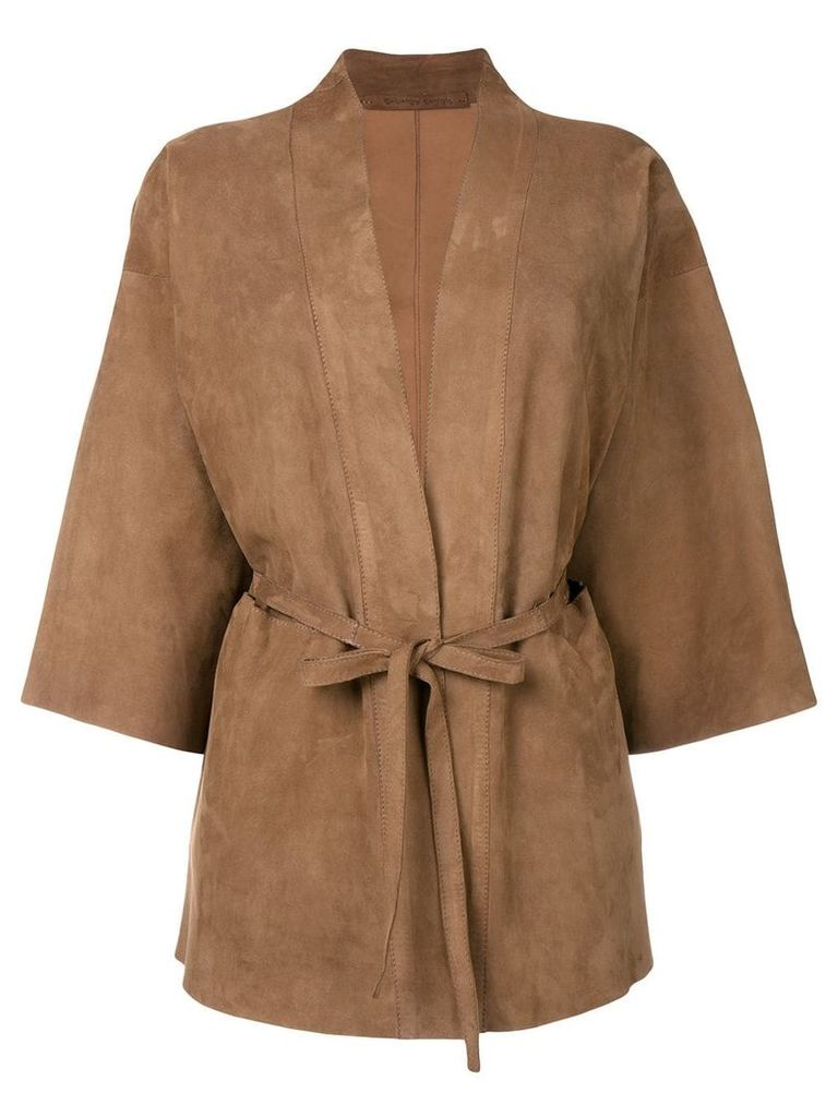 Salvatore Santoro belted jacket - Brown