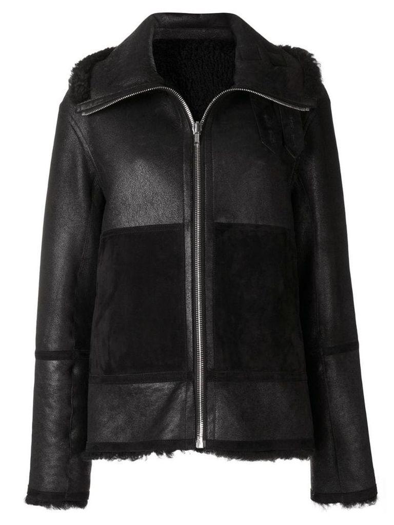 Joseph zipped biker jacket - Black