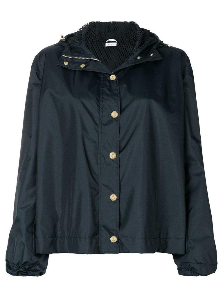 Thom Browne lace-up back boxy jacket - Blue