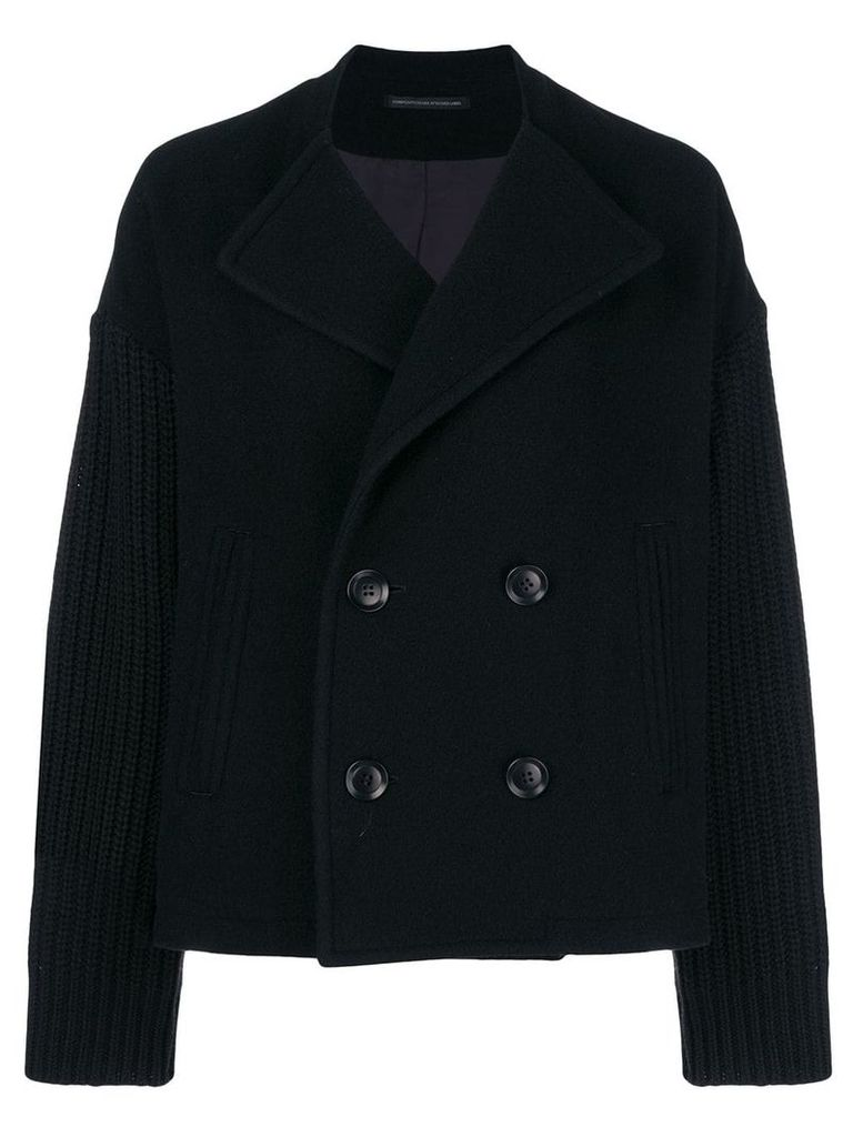 Y's double-breasted jacket - Black
