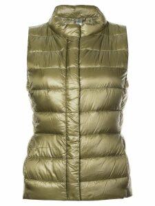 Herno zip quilted gilet - Green