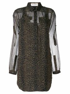Saint Laurent leopard print blouse - Green